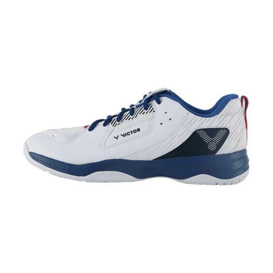 Victor A311 AF gyerek tollaslabda cipő, squash cipő (fehér-kék)