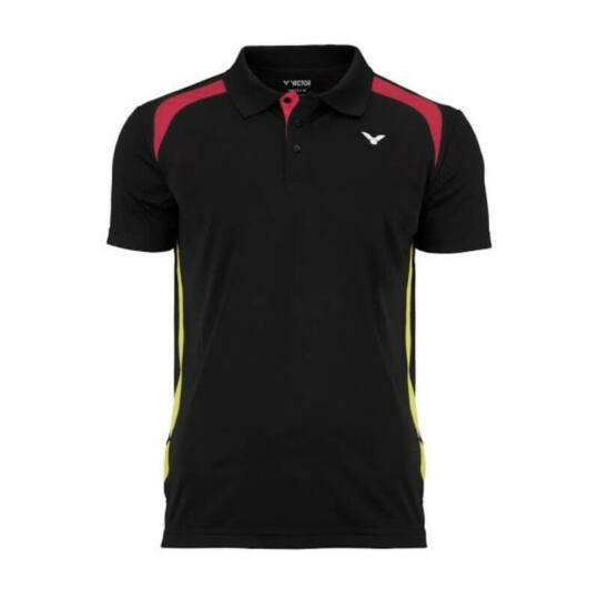 Victor Function Germany férfi tollaslabda, squash galléros póló (fekete)