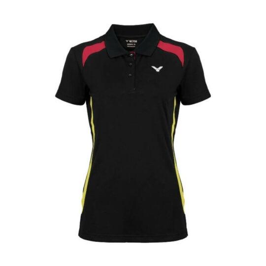 Victor Function Germany női tollaslabda, squash galléros póló (fekete)