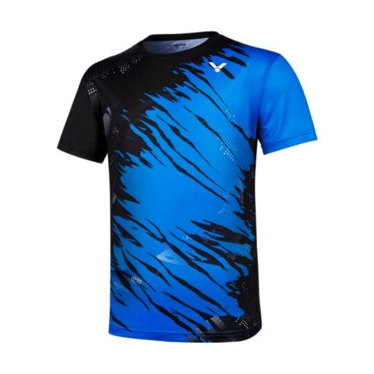 Victor T-10000TD M férfi tollaslabda, squash póló (kék-fekete)