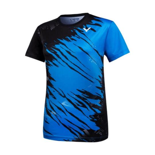 Victor T-11000TD M size női tollaslabda, squash póló (kék-fekete)