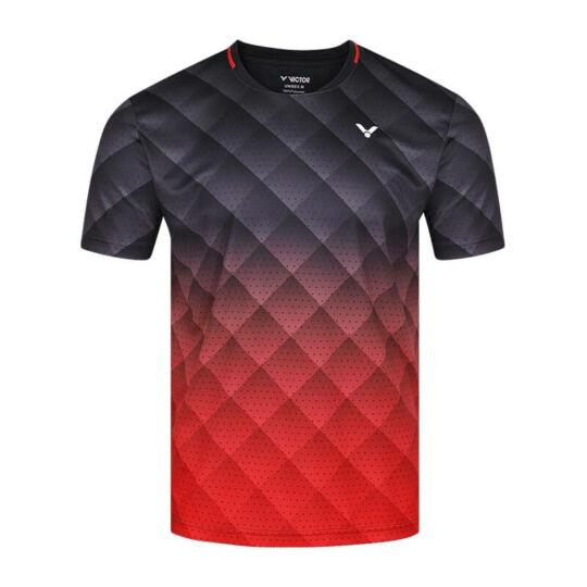Victor T-13100 C gyerek tollaslabda, squash póló (fekete-piros)
