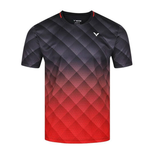 Victor T-13100 C férfi tollaslabda, squash póló (fekete-piros)