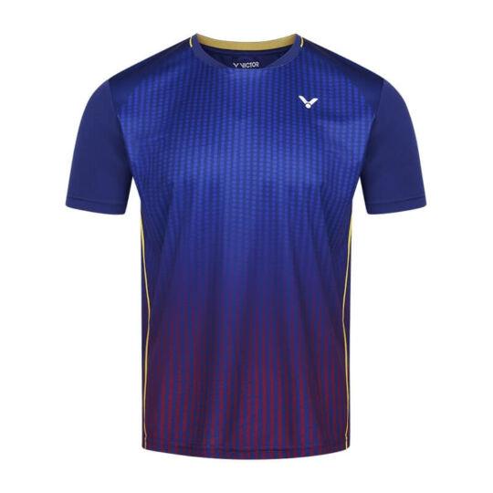 Victor T-13101 B férfi tollaslabda, squash póló (sötétkék)